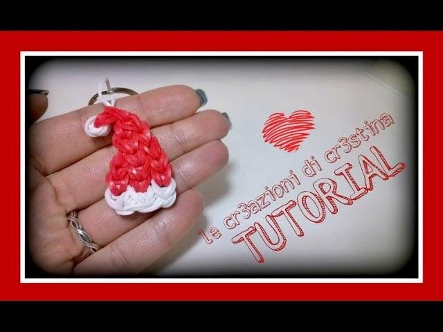 Tutorial Cappello Babbo Natale con Elastici RAINBOW LOOM - DIY Santa Claus Christmas Charm