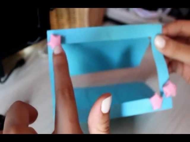 Tutorial Doppio:  Biglietto d'auguri. Portafoto + Stelline origami :)   Two in one!