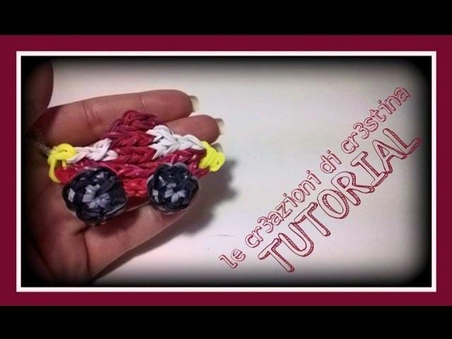 Tutorial Macchina 3D con Elastici RAINBOW LOOM - DIY Car Charm (2 Parte)