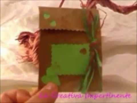 Tutorial Paper Craft gift box - Realizzare una bustina semplice semplice -  parte 2