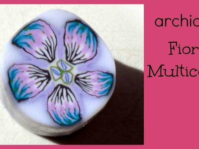Tutorial   Polymer Clay   DIY Millefiori Cane    Murrina Fiore Multicolor