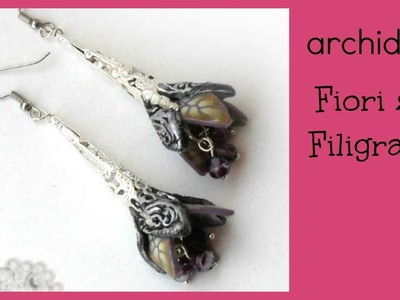 Tutorial | Polymer Clay | DIY Fantasy Filigree Flowers | Fiori su Filigrane