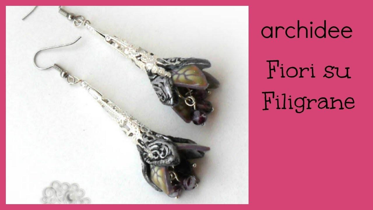 Tutorial   Polymer Clay   DIY Fantasy Filigree Flowers   Fiori su Filigrane