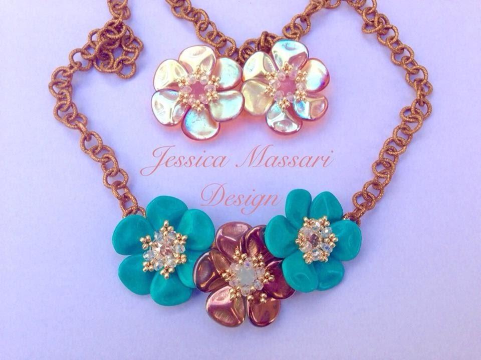 Tutorial Primule - Flower Pendant with Petal Rose Beads