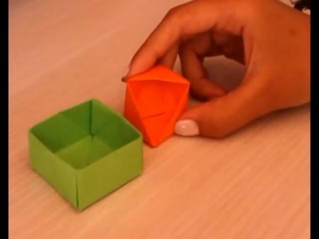 Tutorial Scatoline Origami - Origami boxes ^^