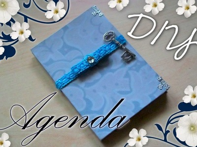 Tutorial Scrapbooking: Come decorare un'Agenda   ✂   DIY Vintage Scrap Diary-Notebook ✂