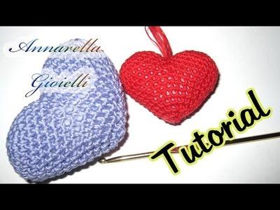 Tutorial uncinetto | Cuore amigurumi | crochet heart amigurumi