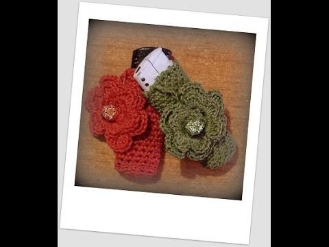 Tutorial uncinetto - il porta accendino all'uncinetto - custodia en Crochet  - case crochet.