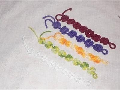 Uncinetto braccialetto fiore quattro petali - Crochet bracelet Flower