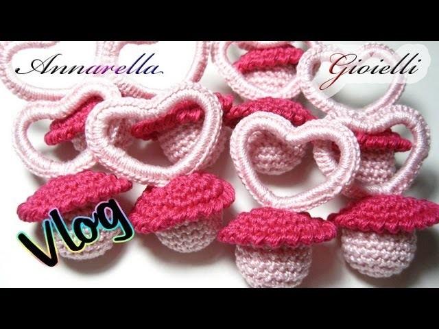 Vlog Creativo 1 | Bomboniere per nascita all'uncinetto | Crochet Birth Favors