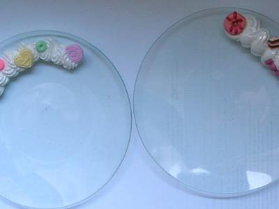 DIY Polymer clay: Decoden tutorial decorazione piatto con dolcetti e silicone!