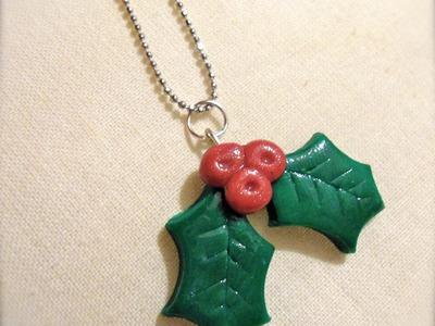 DIY Polymer clay: Tutorial Mistletoe. agrifoglio delle feste!