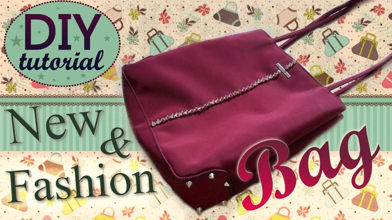 DIY ReFashion Bag - ✂ - Tutorial: Come Personalizzare una vecchia Borsa