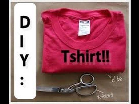 DIY: Tutorial How to cut a tshirt, 3 style