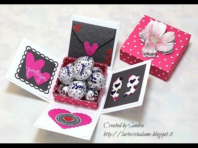 Explosion box tutorial.Scatola S.Valentino - Scrapbooking tutorial