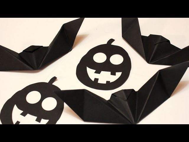 Festone per halloween _ Pipistrelli origami e zucche _ Tutorial Musinlove