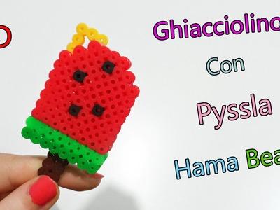 ♥ Ghiacciolino 3D con Pyssla.Hama Beads Ice Cream Tutorial ♥