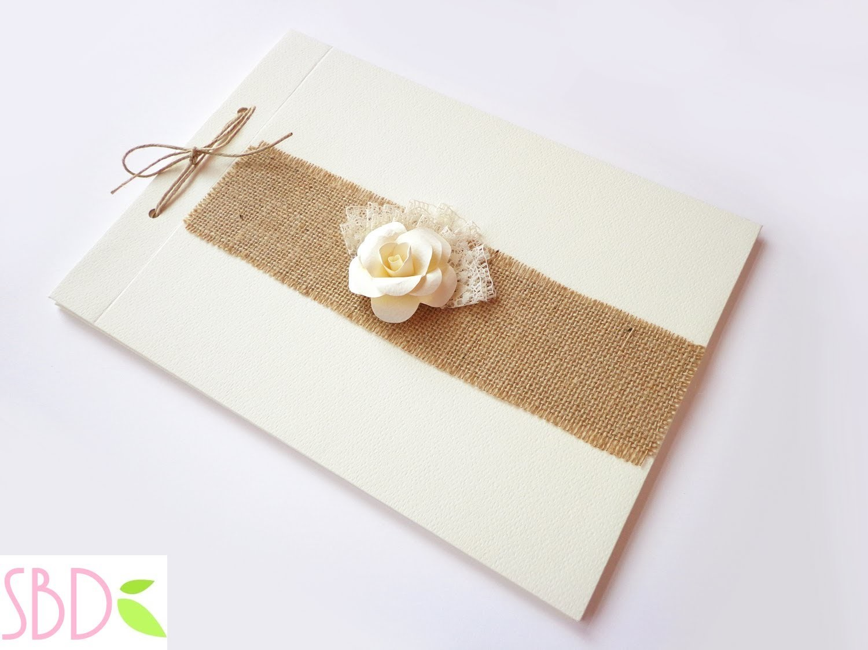 Libro degli ospiti (o firme) shabby - Shabby Wedding Guestbook