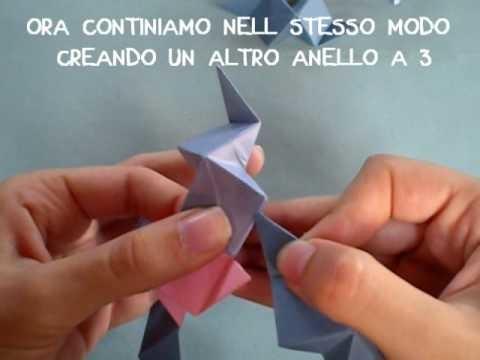 ORIGAMI SFERA STELLATA -  origami star ball