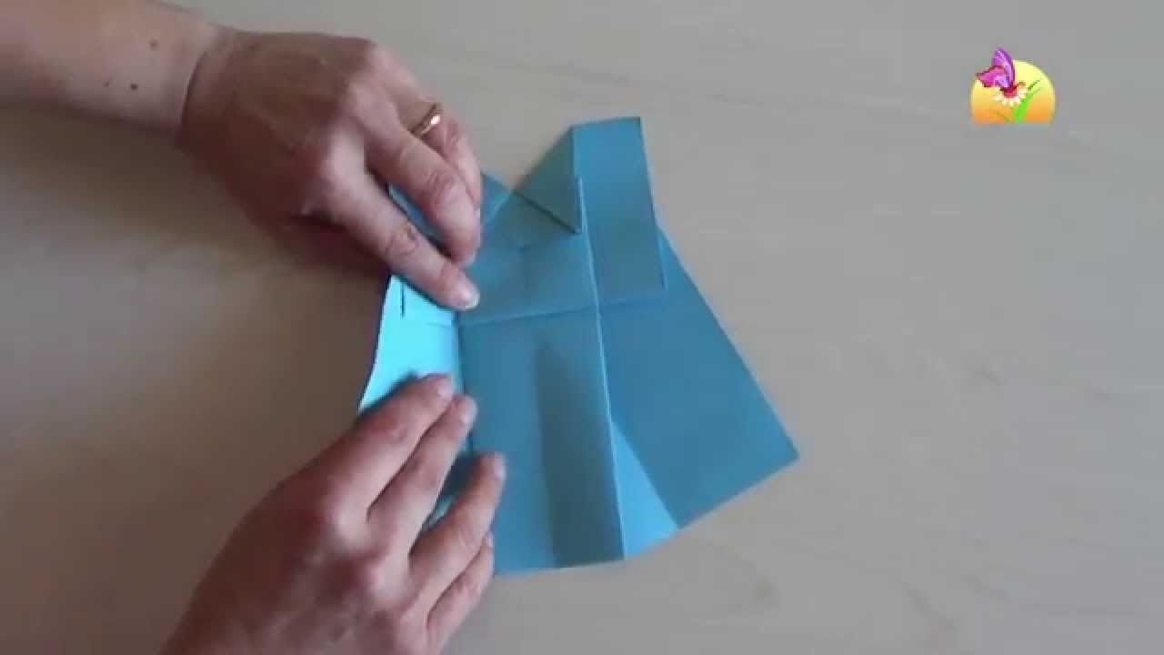 Origami vestito Blu [HD] - www.mammaebambini.it