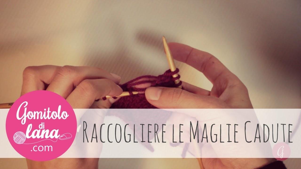 Raccogliere le maglie nel lavoro a maglia - knitting italiano