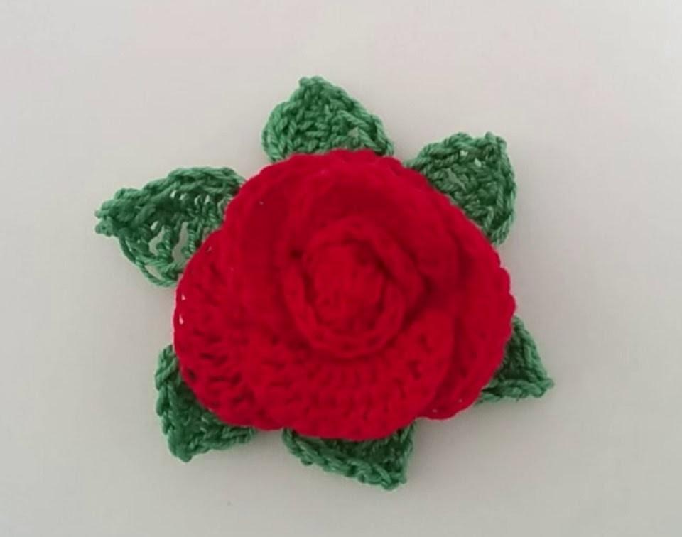Rosa all'uncinetto - Crochet rose