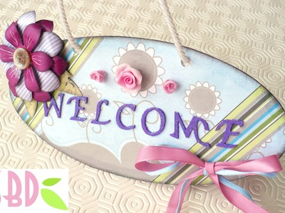 Scrapbooking Tutorial: Cartello Welcome - Welcome banner