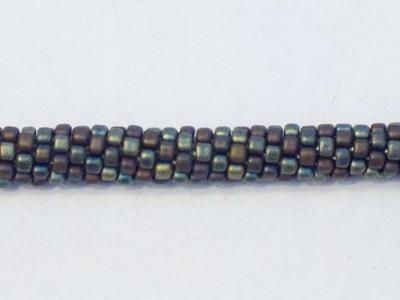 Spirale Crochet con triangoli Miyuki - Idea per bracciale da uomo | Nuove Creazioni