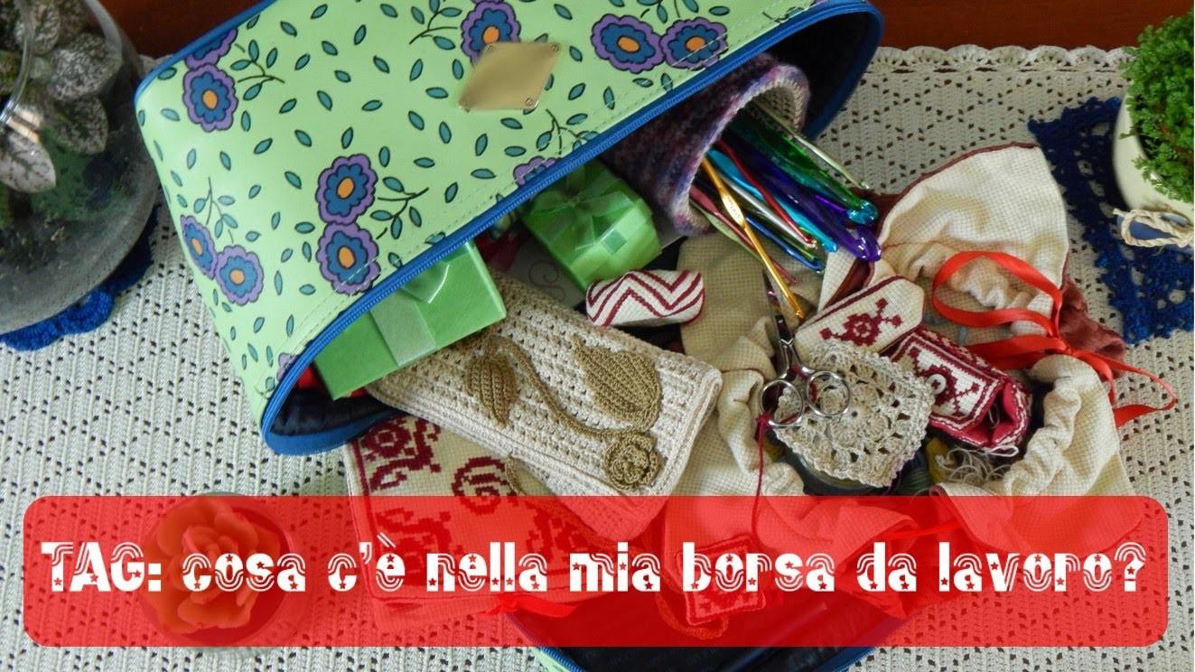 TAG cosa c'è nella mia borsa da lavoro a uncinetto? | TAG what's in my crochet bag?