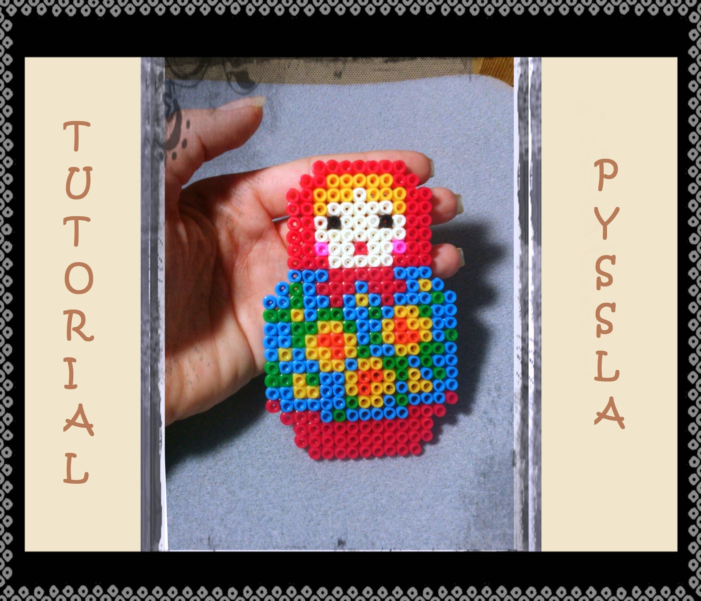 Tutorial * Matrioska Doll * con le Pyssla - Hama Beads DIY bambola russa Idea Bomboniere