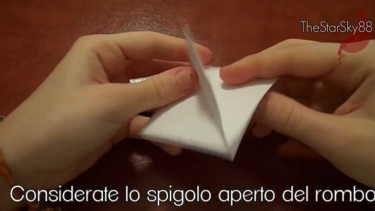 Tutorial Porta Confetti Origami (Video Istruttivo)