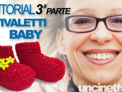 Tutorial uncinetto - Stivaletti baby (crochet baby booties) - Parte 3 di 3