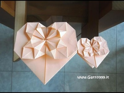 Cuore Origami Heart (Gatto999.it)