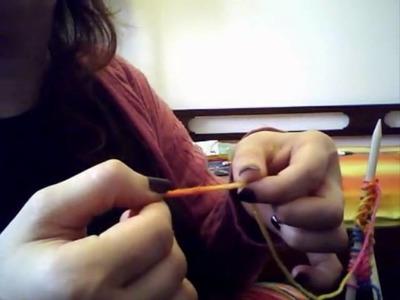 Tutorial knitting 04: sciarpa colorata per bambina- Maglia a rovescio e frange.