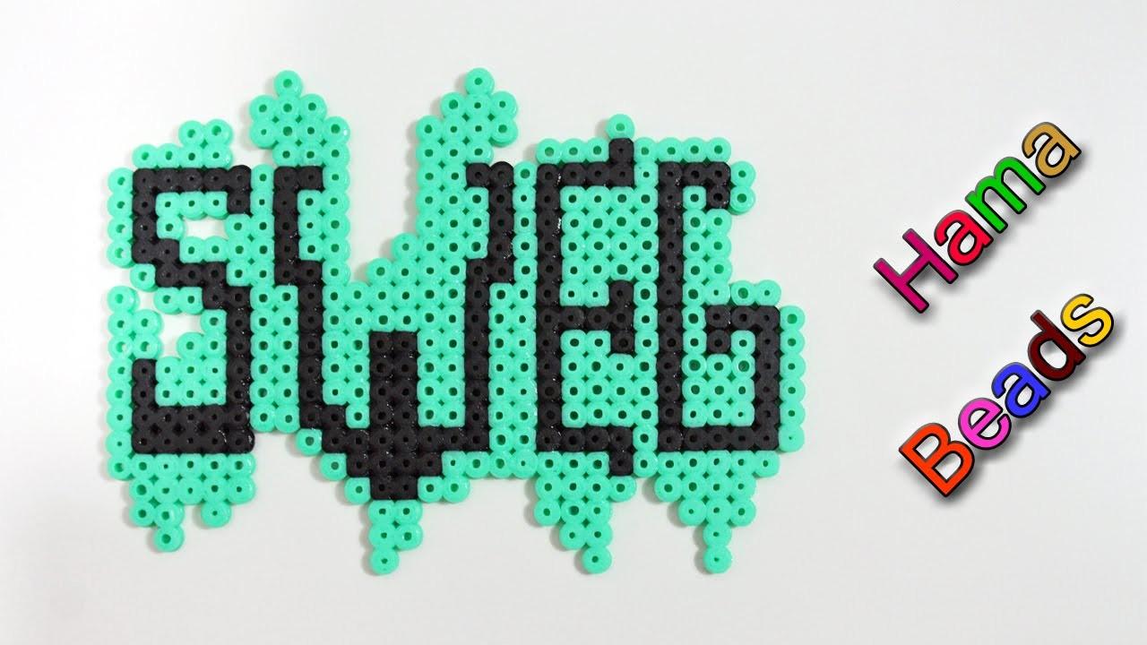 Scritta Sweg con Hama Beads. Perler Beads Tutorial ♡