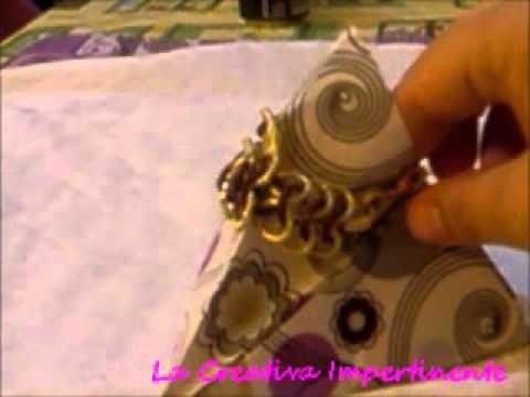 Creazioni - Collana Uncinetto, bracciale chainmail e scatola a piramide   wire crochet, chainmail
