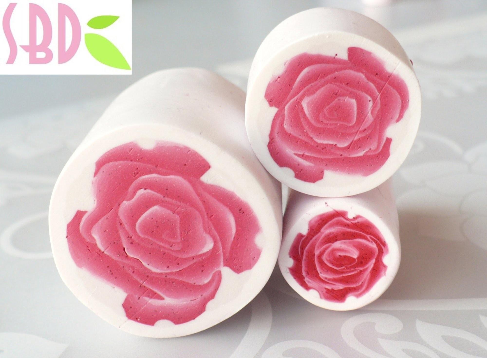 "Tutorial pasta polimerica: millefiori cane ""la Rosa"" - the Rose"