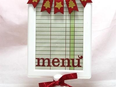 Natale Fai da te:Menù natalizio-Scrapbooking Tutorial-Christmas Table DIY-Tolsby IKEA
