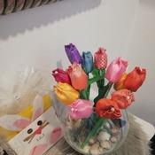 Tulipani di stoffa