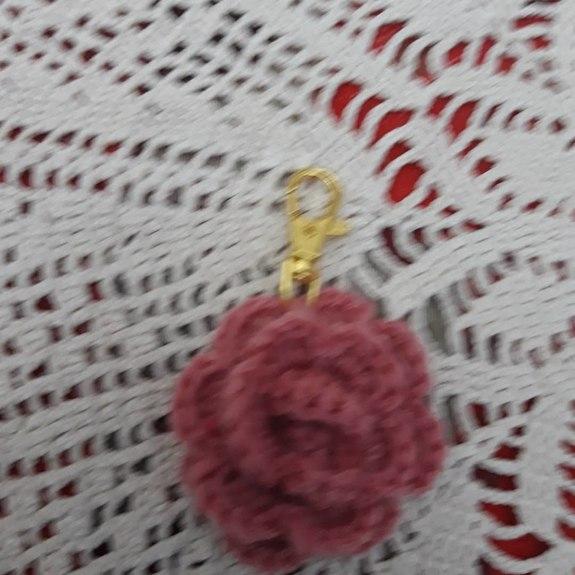 Portachiavi Alluncinetto A Forma Di Rosa E Fiori Anna Cusati