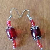 orecchini e bracciale rosso