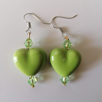 orecchini  e collana con cuore