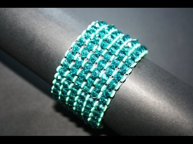 Bracciale con rondelle in cristallo e Obeads - www.millelucistones.com