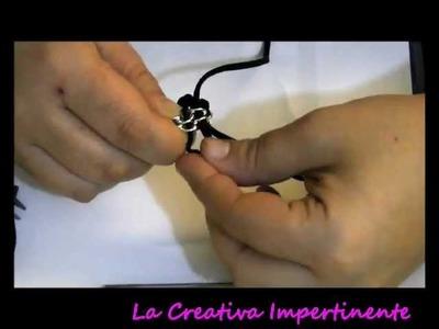 DIY - 3° Tutorial bracciale catena ed alcantara o qualsiasi altro nastro o filo ( bracelet )