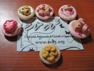 DIY Polymer clay: tutorial piattino con dolcetti