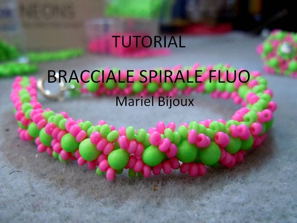 DIY - Tutorial bracciale spirale fluo con perline e Farfalle™ Preciosa