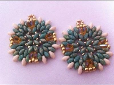 DIY tutorial Petite Ameliè -Orecchini rizo e superduo earrings