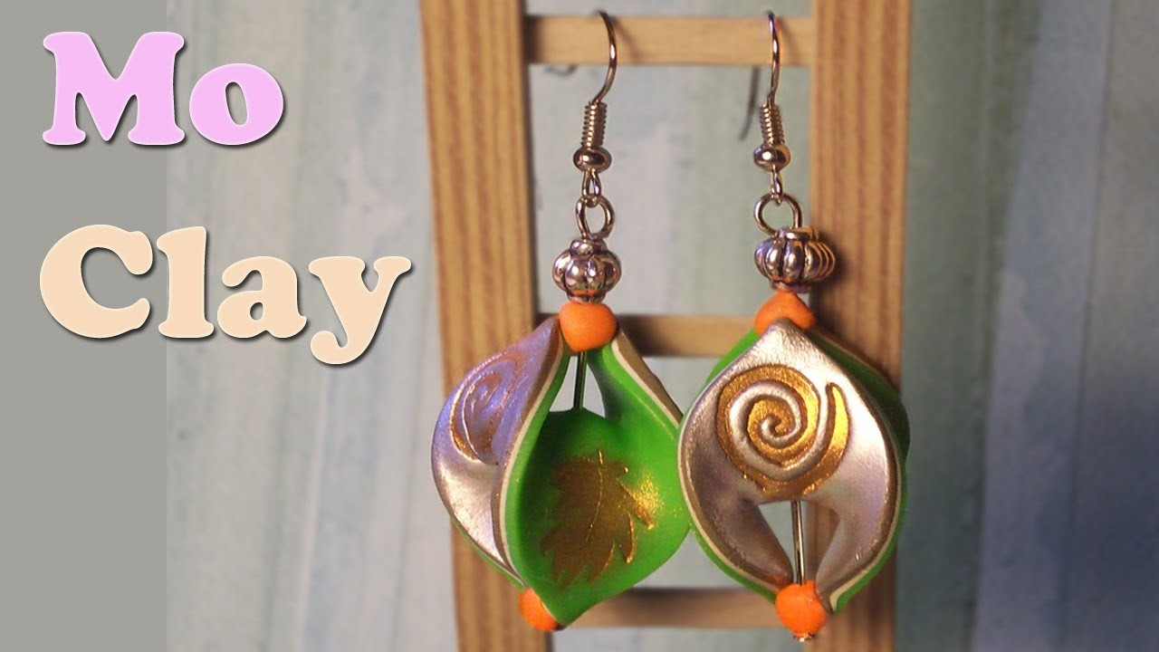 Orecchini mobius e stamping - Polymer clay earrings tutorial - Pendientes en arcilla polimerica