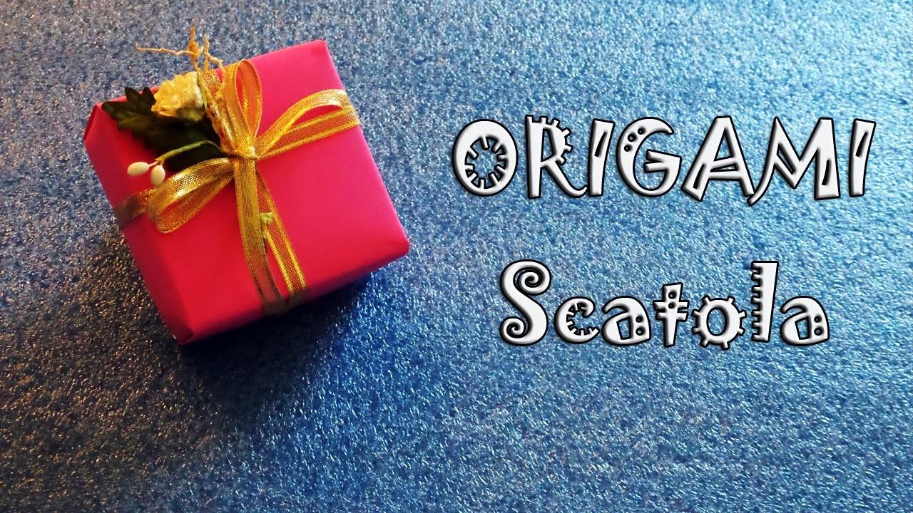 Origami, tutorial scatola per regali e bomboniere fai da te - gift box