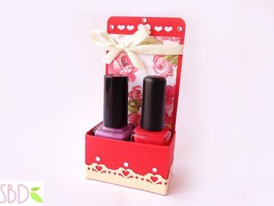 Scrap: Scatola Regalo porta smalti - Nail polish Gift Box